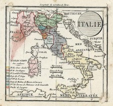Europe and Italy Map By Denisle-Tardieu