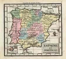Europe, Spain and Portugal Map By Denisle-Tardieu
