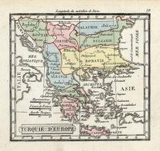 Europe and Turkey Map By Denisle-Tardieu