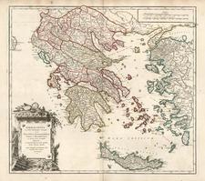 Europe, Balkans, Greece and Balearic Islands Map By Didier Robert de Vaugondy
