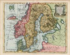 Europe and Scandinavia Map By Joseph De La Porte