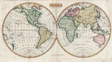 World and World Map By Aaron Arrowsmith  &  Samuel Lewis