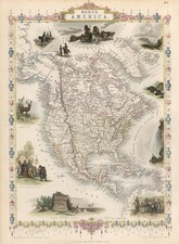 North America Map By John Tallis