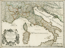Italy and Balearic Islands Map By Nicolas Sanson