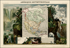 North America Map By Victor Levasseur