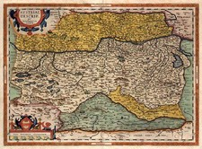 Europe, Austria and Balkans Map By Abraham Ortelius
