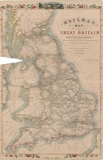 Europe and British Isles Map By John Rapkin