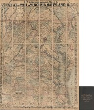 Mid-Atlantic and Southeast Map By Joseph Hutchins Colton