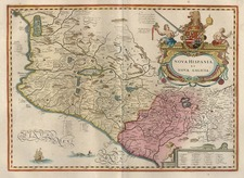Mexico Map By Jodocus Hondius