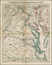 Mid-Atlantic and Southeast Map By Justus Perthes