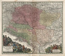 Europe, Hungary, Romania and Balkans Map By Matthaus Seutter