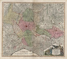 Europe and Italy Map By Matthaus Seutter