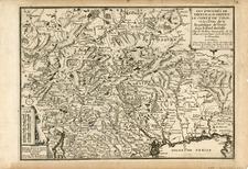Europe, Austria, Balkans and Italy Map By Nicolas de Fer