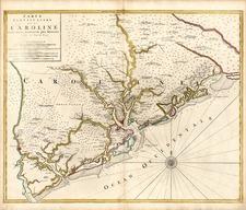 Southeast Map By Johannes Covens  &  Cornelis Mortier