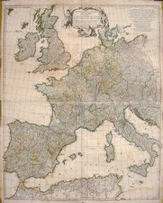 Europe and Europe Map By Jean-Baptiste Bourguignon d'Anville