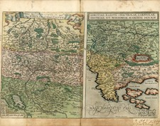 Europe, Austria, Balkans and Italy Map By Abraham Ortelius