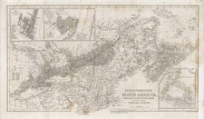 New England and Canada Map By Harper & Brothers