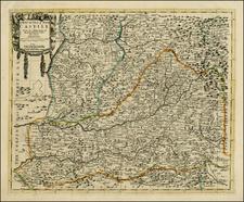 Spain Map By John Senex