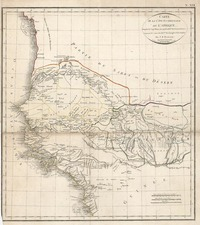 Africa and West Africa Map By Jean Baptiste Poirson