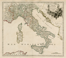 Switzerland, France, Italy and Balearic Islands Map By Didier Robert de Vaugondy