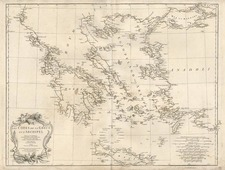 Europe, Balkans, Greece, Turkey and Balearic Islands Map By Jean-Baptiste Bourguignon d'Anville