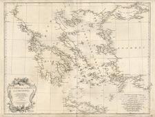 Europe, Balkans, Turkey, Balearic Islands and Greece Map By Jean-Baptiste Bourguignon d'Anville