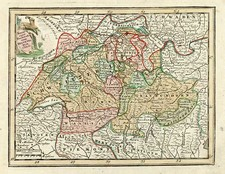 Europe and Switzerland Map By Adam Friedrich Zurner / Johann Christoph Weigel