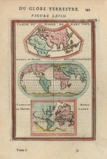 World, World and Curiosities Map By Alain Manesson Mallet