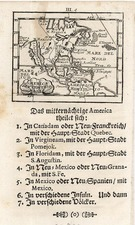 North America Map By Johann Ulrich Muller
