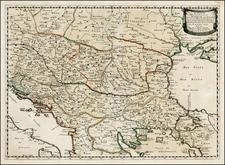 Ukraine, Romania, Balkans, Greece and Turkey Map By Nicolas Sanson