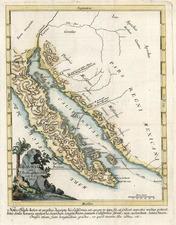Southwest, Mexico, Baja California and California Map By Ferdinando Consag