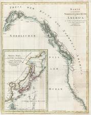 Alaska, California and Canada Map By Daniel Friedrich Sotzmann