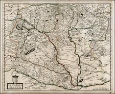 Austria and Hungary Map By Nicolas Sanson