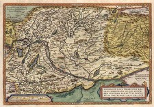 Europe, Hungary, Romania and Balkans Map By Abraham Ortelius
