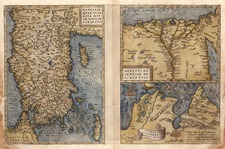 Middle East, Turkey & Asia Minor and North Africa Map By Abraham Ortelius