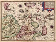 Asia, China, Japan, Southeast Asia, Australia & Oceania and Australia Map By Jan Huygen Van Linschoten