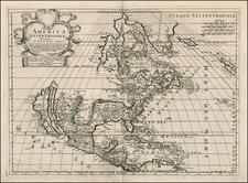 North America and California Map By Paolo Petrini
