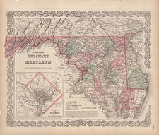 Mid-Atlantic Map By G.W.  & C.B. Colton