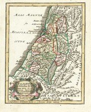 Asia and Holy Land Map By Adam Friedrich Zurner / Johann Christoph Weigel