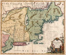 New England and Mid-Atlantic Map By Johann Baptist Homann