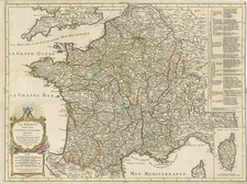 Europe and France Map By Gilles Robert de Vaugondy