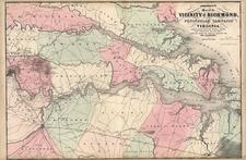 Mid-Atlantic and Southeast Map By Benjamin P Ward  &  Alvin Jewett Johnson
