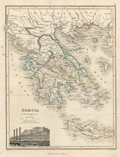 Europe, Greece and Balearic Islands Map By John Thomson