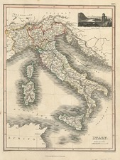Europe, Italy, Mediterranean and Balearic Islands Map By John Thomson