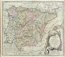 Europe, Spain and Portugal Map By Louis Brion de la Tour
