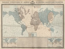 World, World and Curiosities Map By F.A. Garnier