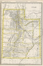 Southwest and Rocky Mountains Map By William Rand  &  Andrew McNally