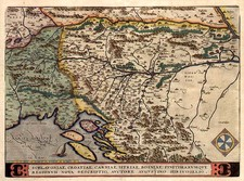 Europe and Balkans Map By Abraham Ortelius