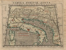 Europe, Balkans and Italy Map By Giovanni Antonio Magini