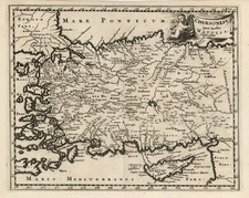 Europe, Turkey, Asia, Turkey & Asia Minor and Balearic Islands Map By Christoph Cellarius